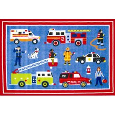 Olive Kids Hero Blue Area Rug