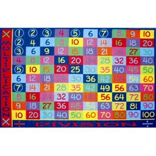 Fun Time Multiplication Classroom Area Rug