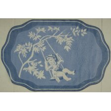 Supreme Blue Toile Brown/Blue Area Rug