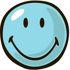 Smiley World Blue Smiley Area Rug