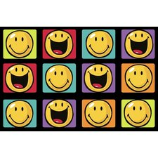 Smiley World Happy and Smiling Yellow Area Rug