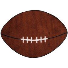 Fun Shape Football Sports Area Rug