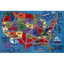 Fun Time State Classroom Area Rug