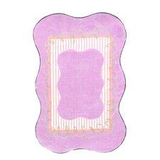 Supreme Scalloped Girls Purple Area Rug