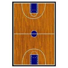 Supreme Basketball Court Sports Brown Area Rug