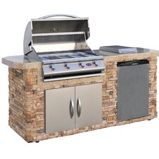 "84"" 4-Burner Liquid Propane Gas Grill"