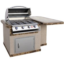 "72"" 4-Burner Liquid Propane Gas Grill with"
