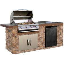 "72"" 4-Burner Built-In Liquid Propane Gas Grill"