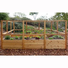 Rectangular Raised Cedar Garden Bed