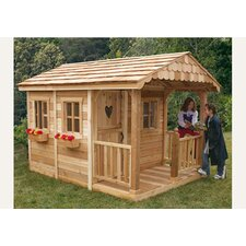 Sunflower Playhouse with 3 Functional Window and Cedar Deck Porch