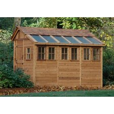 Sunshed 8 Ft. W x 12 Ft. D Wood Garden Shed
