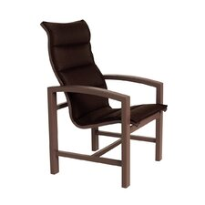 Lakeside Padded Sling Dining Arm Chair