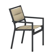 Cabana Club Padded Sling Dining Arm Chair