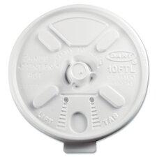 Lift n' Lock Plastic Hot Cup Lids Fits 10 oz. Cups (Carton of 1,000)