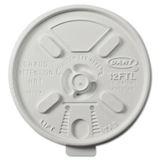Vented Foam Lids for 10-14 oz. Foam Cups with Lift n' Lock Lid (Carton of 1,000)