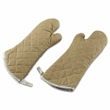 "17"" Flameguard Oven Mitt in Tan (Set of 2)"