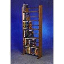 Delux VHS Dowel Multimedia Storage Rack