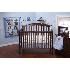 3 Little Monkey Blue 10 Piece Crib Bedding Set