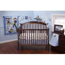 3 Little Monkey Blue 10 Piece Crib Bedding Set