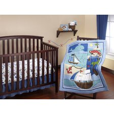 Baby Buccaneer 3 Piece Crib Bedding Set
