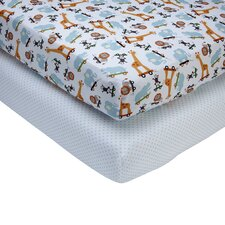 Critter Pal 2 Piece Crib Sheet Set