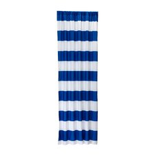 Dark Royal Stripe Curtain Panel