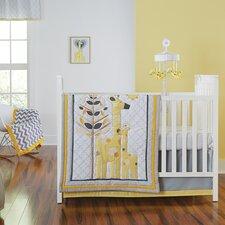 Safari Giraffe Happy Chic by Jonathan Adler 4 Piece Crib Bedding Set