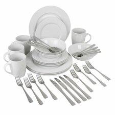 Urbana Exclusive 36 Piece Dinnerware & Flatware Set