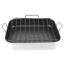 "13.5"" Aluminum Non-stick Roaster with U Rack"