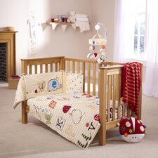 ABC 2 Piece Cot Bed Set
