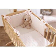 Dimple Rocking Cradle Quilt and Bumper Set in Cream