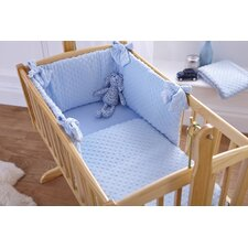 Dimple Rocking Cradle Quilt and Bumper Set in Blue