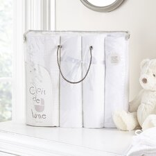 Cot Bed 4-Piece Gift Set in White