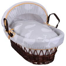 Whales Wicker Moses Basket