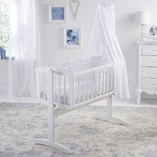Broderie Anglaise 4 Piece Rocking Crib Bedding Set