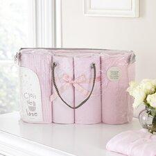 Pram 4-Piece Gift Set in Pink