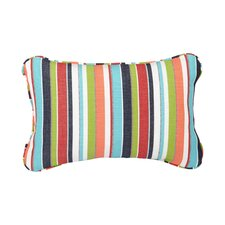 Corded Colorful Stripes Outdoor Lumbar Pillow (Set of 2)