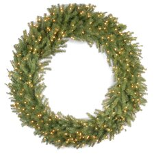 Norwood Fir Pre-Lit Wreath with 300 Clear Lights
