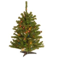 Eastern Spruce 3' Green Artificial Christmas Tree with 50 Colored & Multi Color Lights