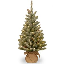 Snowy Fir 3' Green Artificial Christmas Tree with 50 LED White Lights & Stand