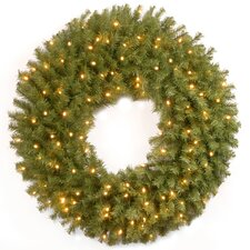 Norwood Fir Pre-Lit Wreath