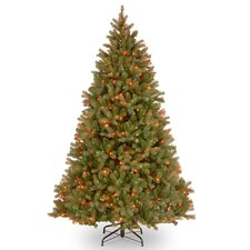 Bayberry Spruce 7' Green Artificial Christmas Tree with 700 Multi Lights and Stand