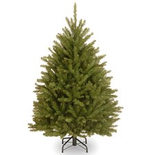 Dunhill Fir 4.5' Hinged Green Artificial Christmas Tree and Stand