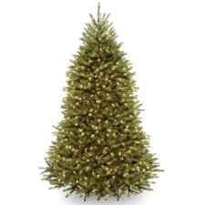 Dunhill Fir 6.5' Hinged Green Artificial Christmas Tree with 650 Clear Lights
