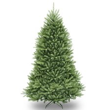 Dunhill Fir 7.5' Hinged Green Artificial Christmas Tree and Stand