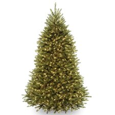 Dunhill Fir 7.5' Hinged Green Artificial Christmas Tree with 750 Clear Lights