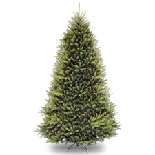 Dunhill Fir 9' Hinged Green Artificial Christmas Tree and Stand