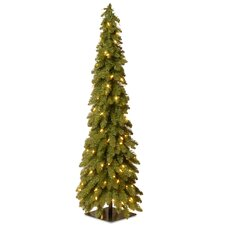4' Green Downswept Artificial Christmas Tree with 100 Colored & Clear Lights