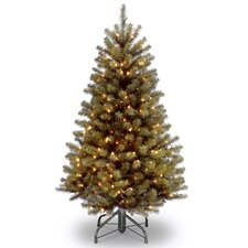 North Valley Spruce 4.5' Green Artificial Christmas Tree with 200 Clear Lights and Stand
