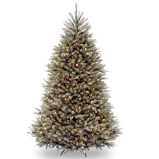 Dunhill Blue Fir 7.5' Hinged Green Artificial Christmas Tree with 750 Clear Lights